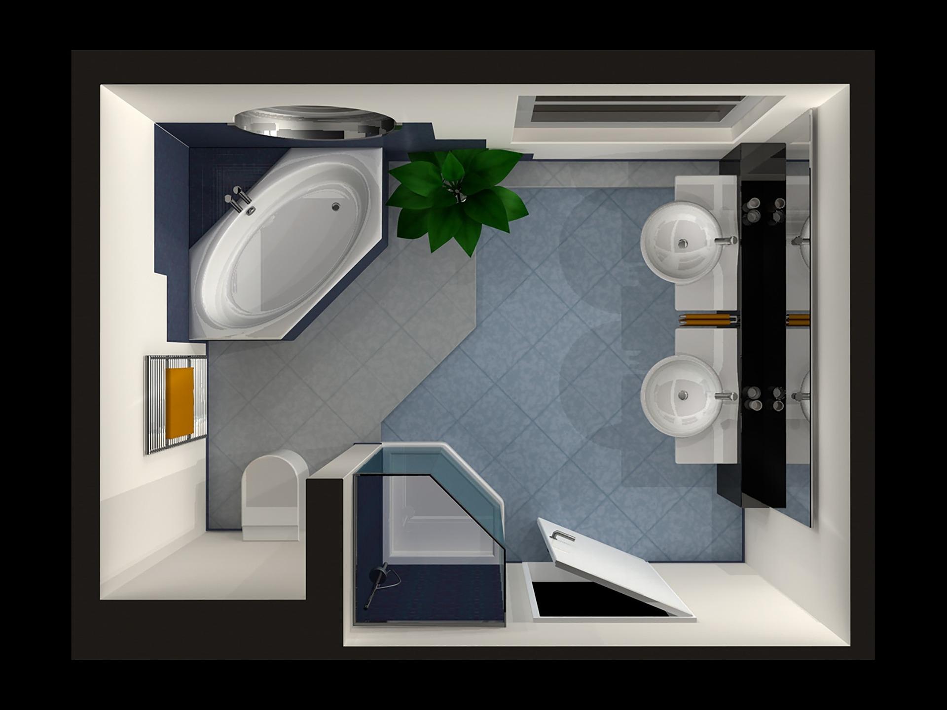 Badkamer verplaatsen   Superrenovatie