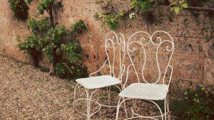 Romantische tuinset
